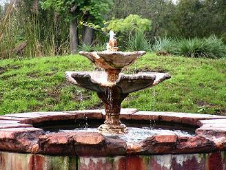Дизайн фонтана в східному стилі.